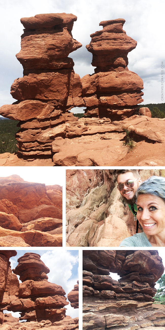 Garden of the Gods, Colorado Springs CO  CreativelyCurated.com #creativelycurated #exploringcolorado #sandidevenny