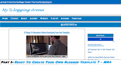 Basics Of Building Blogger Template