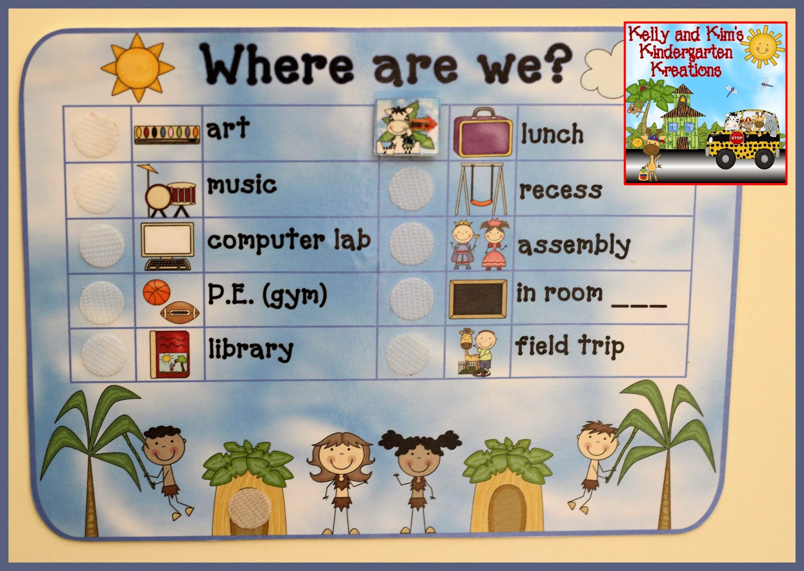 Kelly And Kim S Kindergarten Kreations We Re Wild About Our Jungle Themed Classroom Decor Pack
