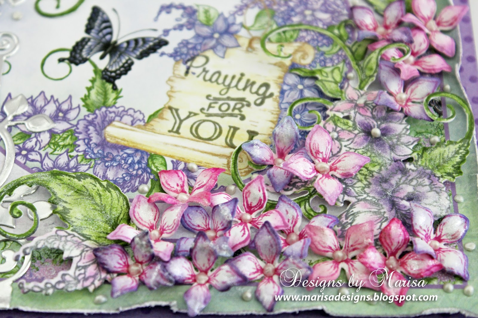 Heartfelt Creations Spellbinders Die ~ LUSH LILAC ~ HCD1-7170
