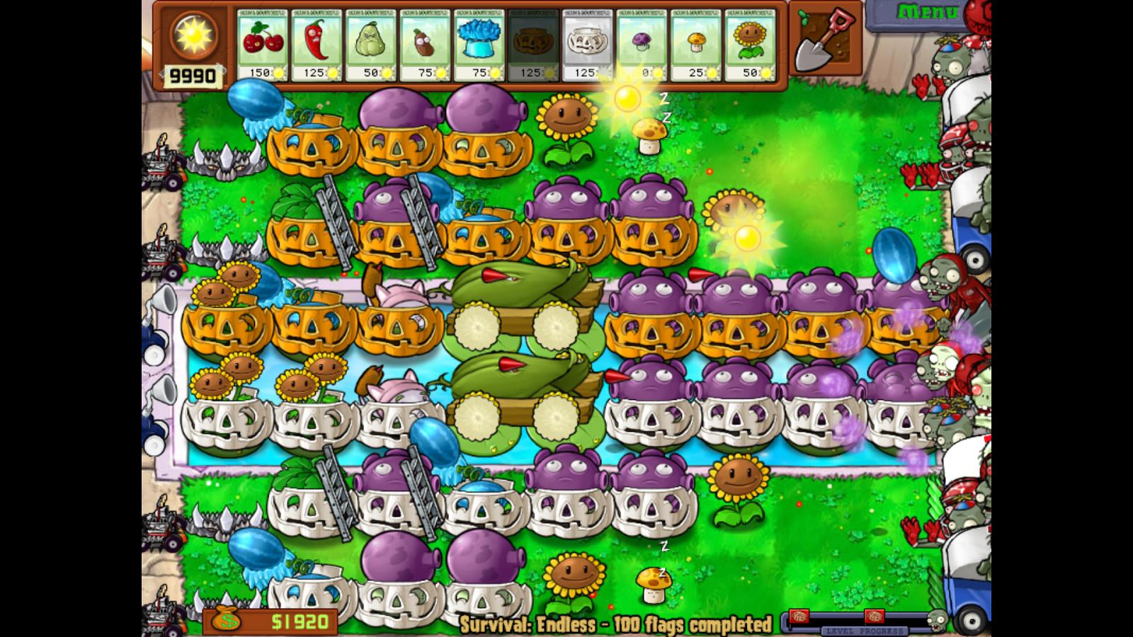các zombies trong game cuộc chiến thây ma