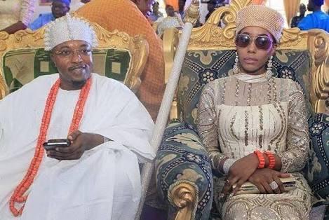 Oluwo Of Iwo and Wife- BolaEshosBlog