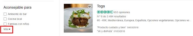 Buscar un restaurante barato en Madrid