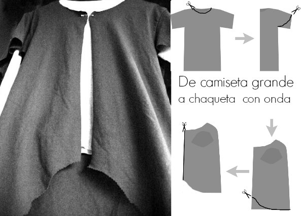 Convertir camiseta de algodon en chaqueta
