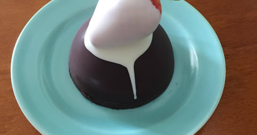 Dome shape desserts using millionaires caramel from Kiwicakes
