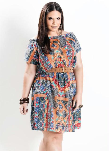 vestido ciganinha plus size