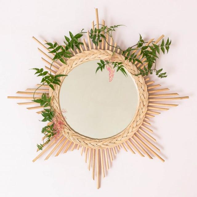miroir en rotin Le Petit florilège via Nat et nature