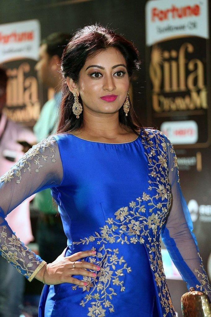 Tollywood Actress Tejaswini At IIFA Awards 2017 In Blue Dress