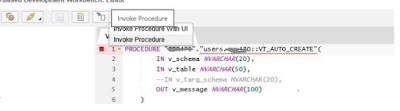 Tool for Quick Creation of Virtual Table in HANA
