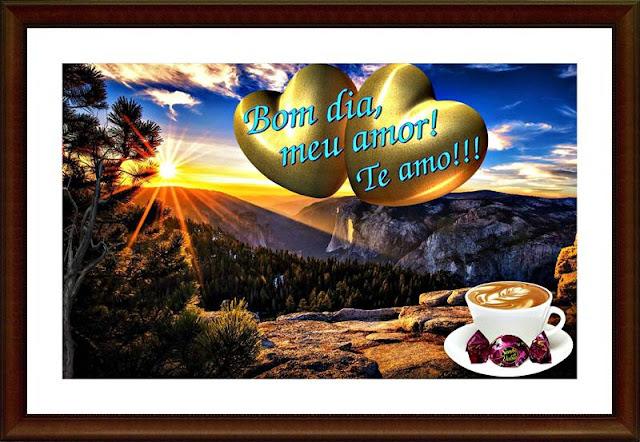 Cartões postais de bom dia, meu amor