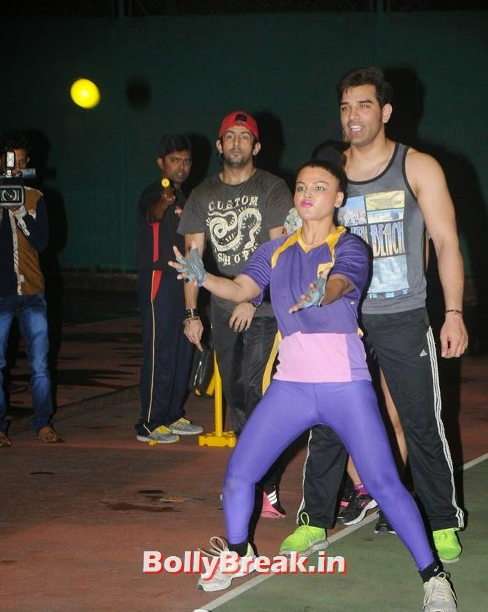Rakhi Swant, Paras Chhabra, Pics from BCL Team Rowdy Bangalore Practice Match