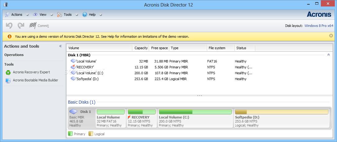 Acronis Disk Director 12 5 Build 163 + BootCD + Keys +