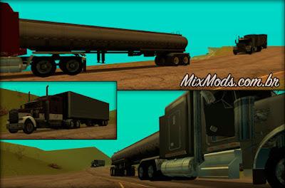 trucks trailer caminhões com reboques carretas gta sa mod cleo