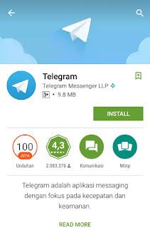 Mendaftar Telegram di Android