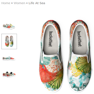 Artist designed canvas shoes by Mimi Pinto