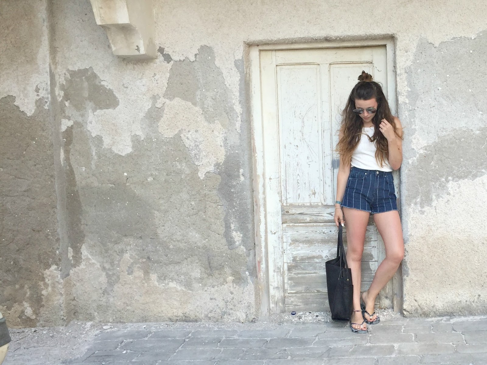 styling denim shorts on holiday