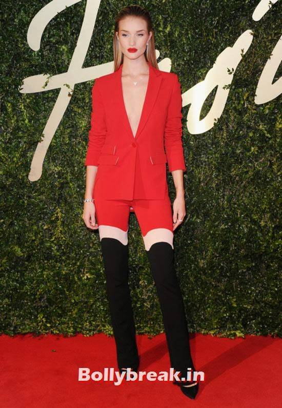 Rosie Huntington-Whitely, Who Looks the Hottest in Red Party Dress