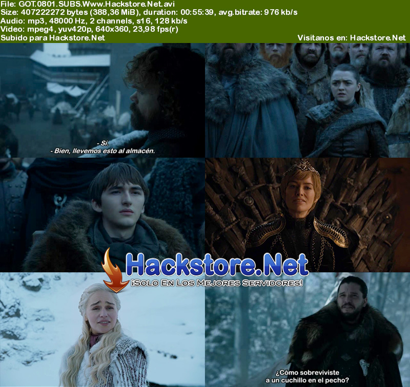 Capturas de Game of Thrones Octava Temporada Subtitulada
