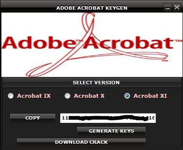 adobe acrobat key generator download
