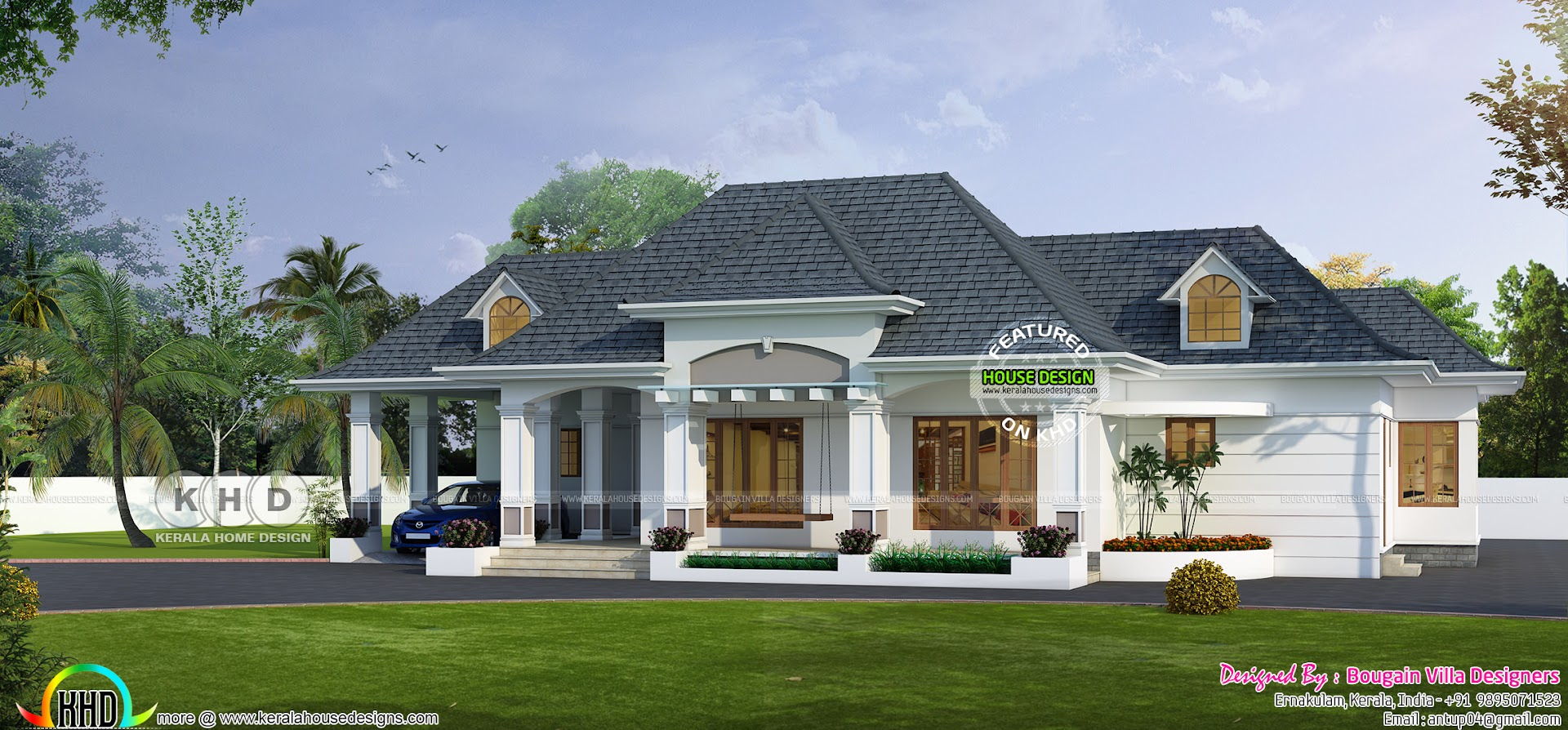 Classic Bungalow Architecture 2750 Sq Ft Kerala Home