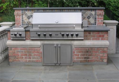 Outdoor Kitchen Grill Insert Racks Ikea Brick Driveway Image: Built In Bbq