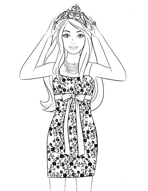 Barbie Coloring Pages For Girls  Barbie Coloring Page