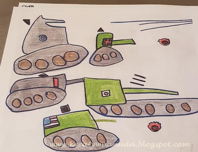 chustka z czołgami…