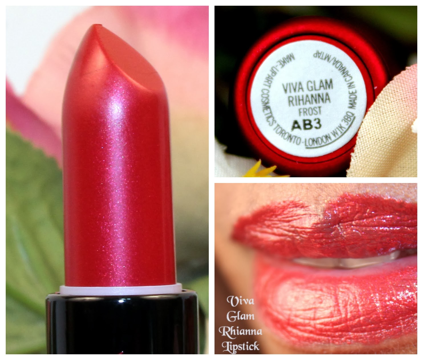 Mac Viva Glam Rihanna Lipstick and Lipglass
