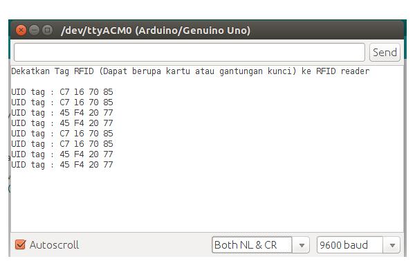 Serial Monitor RFID MIRC522 MENGGUNAKAN ARDUINO