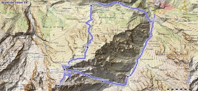 Mapa ruta circular a Peña Castil
