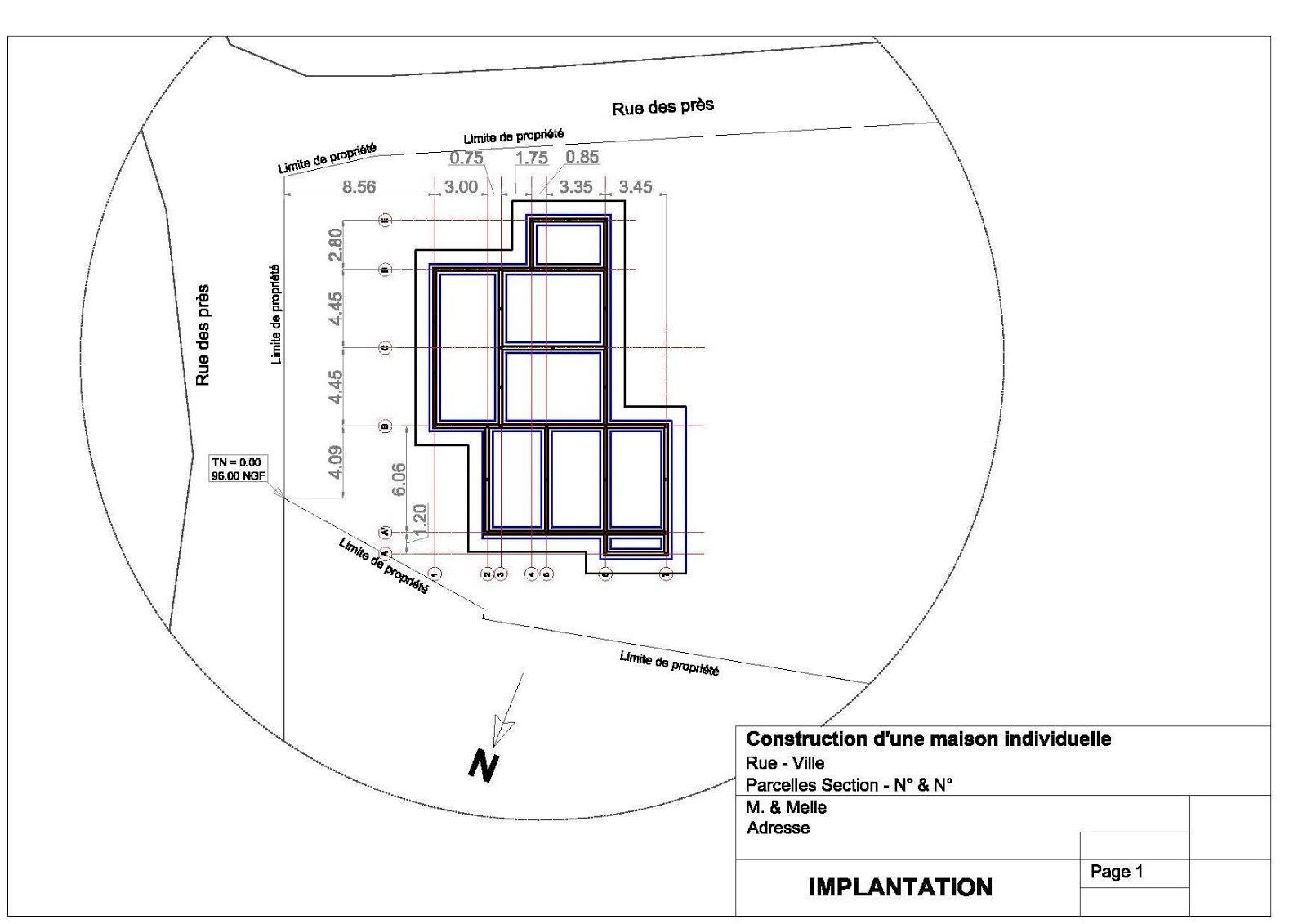 Notre auto construction passive maison ossature bois m for Plan implantation maison