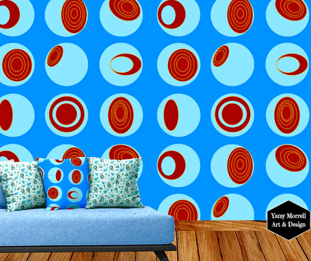 Blue-pattern-fabric-geometric-by-yamy-morrell
