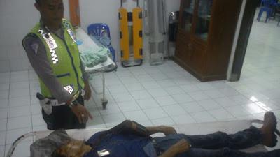 Tangani Koban MD Kejadian Laka Lantas Di Jalan Banjar-Pangandaran