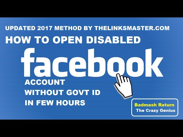 "Fastest Way to Open a Disabled Account in Facebook 2017 Updated New Method Without Any Govt ID How To Get Back / Activate / Enable / Recover / Open Your Disabled Account Facebook ! Fix ""My Personal Account Was Disabled Or Your Account Was Disabled For Violating Facebook's Statement Of Rights And Responsibilities."" !  Follow These Simple Steps"