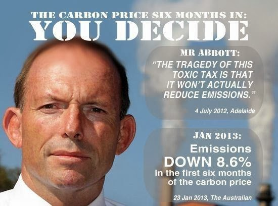 Tony Abbott - afraid of a price on carbon