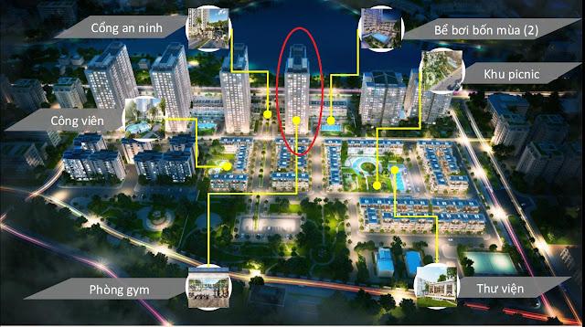 Phối cảnh tổng thể toàn khu Dự án Green Bay Premium