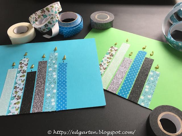 Washi Tape Weihnachtskarten