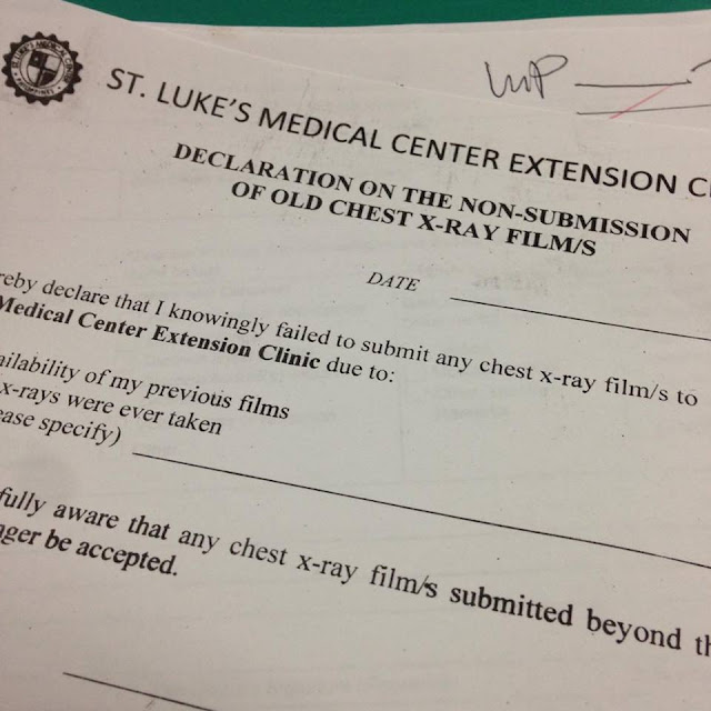 My Medical Examination Experience at St  Luke's Medical Center