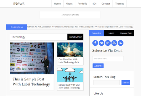 iNews Blogger Template