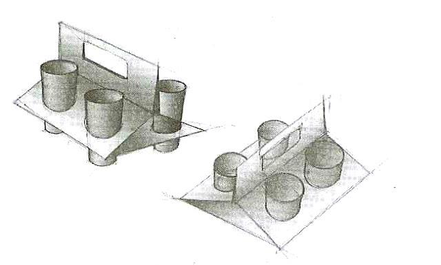 Contoh sketsa pembawa gelas jus setelah pengembangan secara rasional
