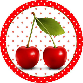 Cherries: Free Printable Cupcake Wrappers and Toppers.