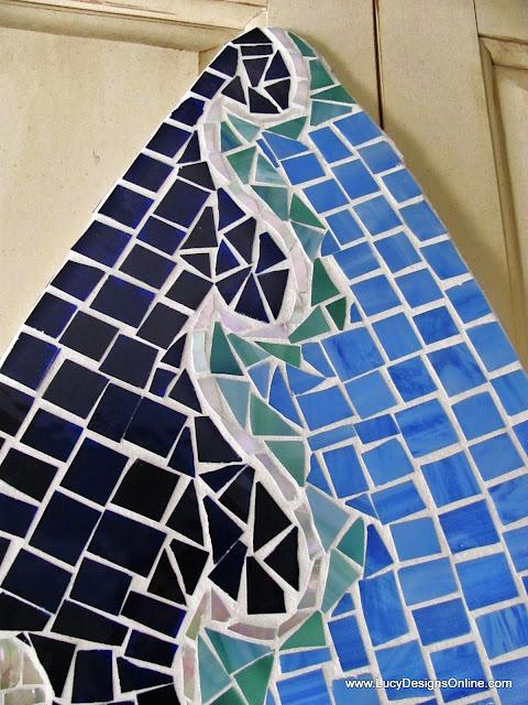 coastal art wave mosaic
