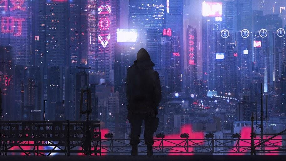 Cyberpunk, City, Buildings, Sci-Fi, 4K, #4.74