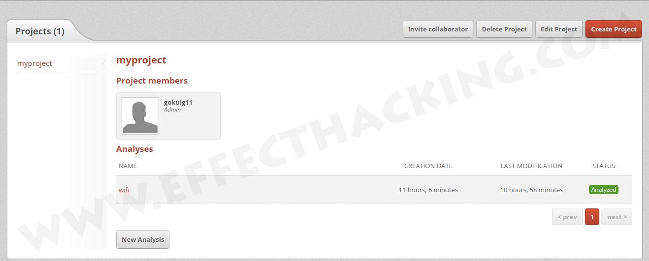 Dexter Dashboard Screenshot