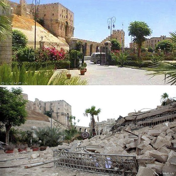 5 Foto Menyedihkan Allepo Sebelum dan Sesudah Perang