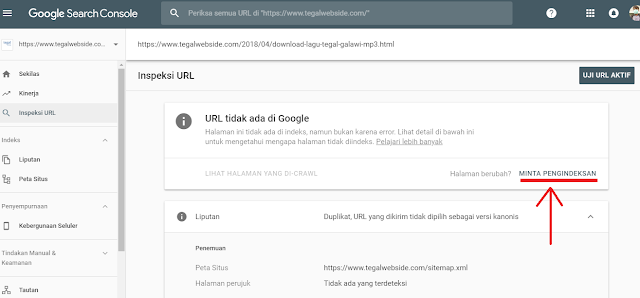 Cara Submit URL dan Sitemap blog di Search Console versi BARU