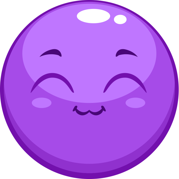 Purple Happy Smiley