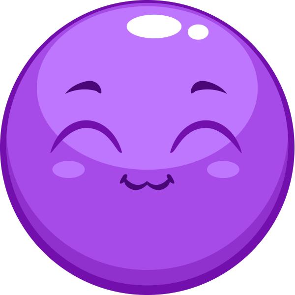 Purple Happy Smiley