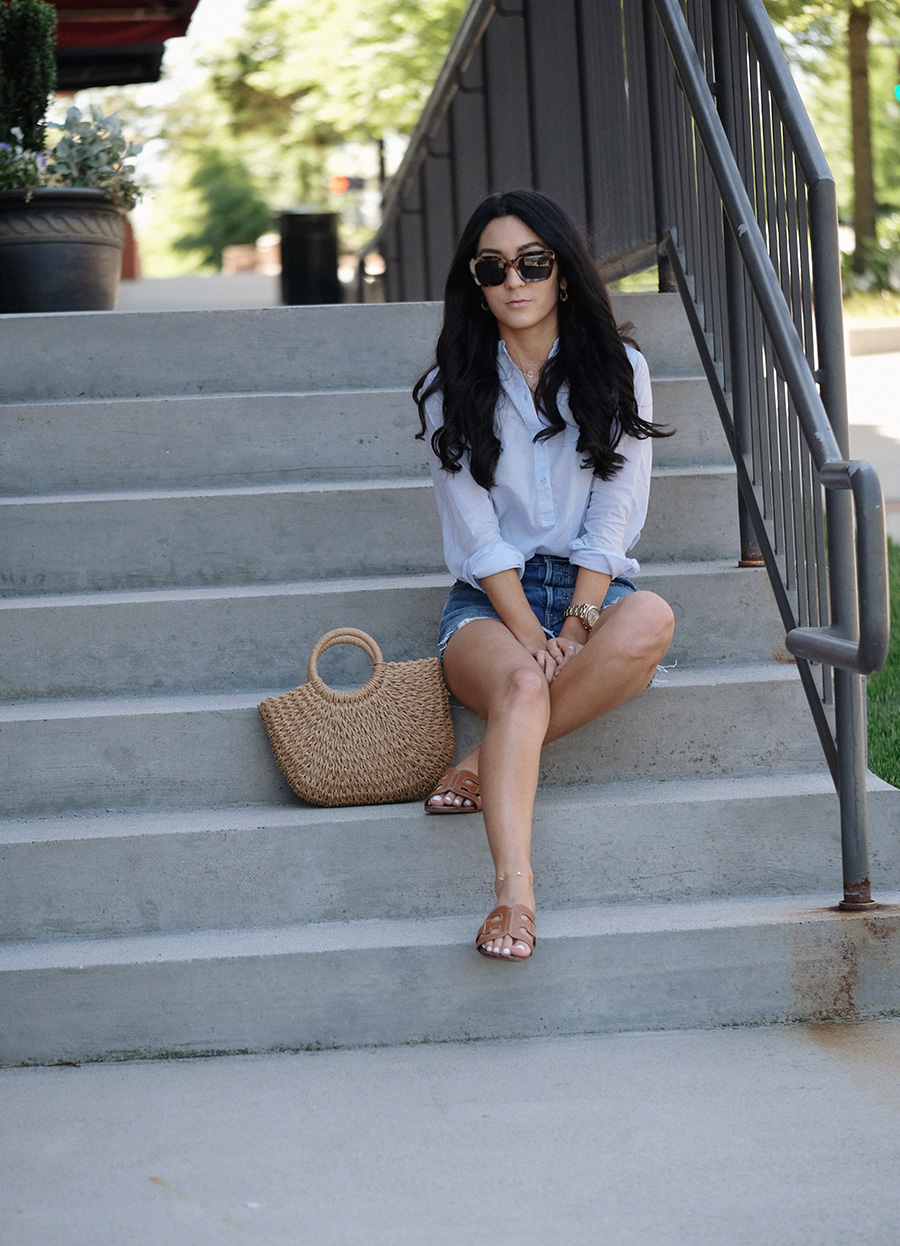 how to wear a cotton top this summer outfit | levis back to your heart