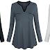 $4.60 (Reg. $22.99) + Free Ship Women's Henley Shirt!